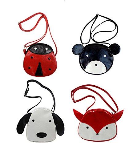 (1-7Y) Kids Boys & Girls Cute Animal Mini Crossbody Purse Coin Purse Shoulder Bag,Ladybug