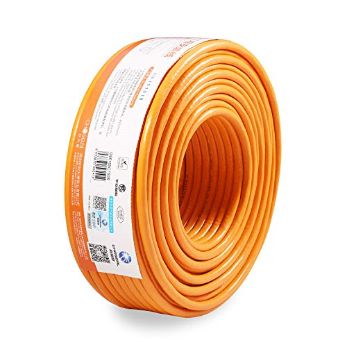 (Choseal Cat6 Ethernet Cable,23AWG 4 Pair Solid Bare Copper, 250MHz Double Shielded Twisted Pair-65Feet)