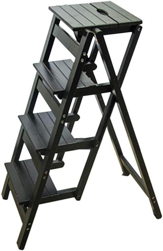 Taburete Escalera de Madera Taburete con escalera plegable ...