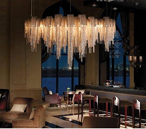 GOWE new chandelier modern aluminum chain chandelier villa abajur modern metal lighting 110V-220V