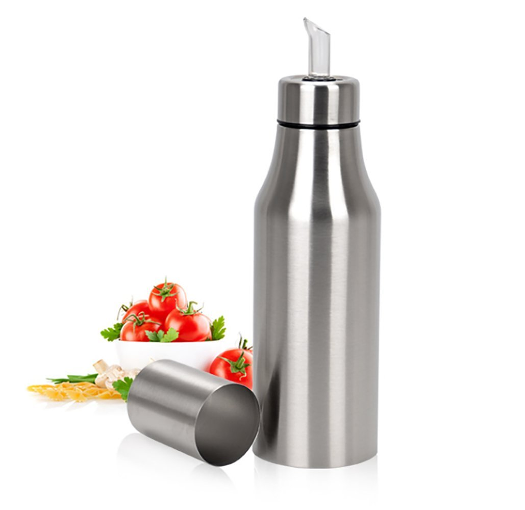 ixaer 35oz(1000ml) Olive Oil Dispenser Oil Pot, Dust-proof Leak-proof Oil Bottle, 304 Stainless Steel Olive Oil Vinegar Dispenser Cruet, Durable Oil Bottle Best for Your BBQ Time