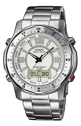 CASIO WVA-220DE-7AVER - Reloj Digital de Cuarzo con Correa de Acero Inoxidable
