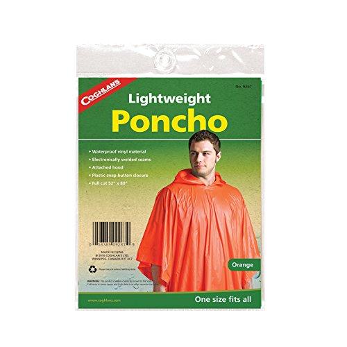 (Coghlan's Lightweight Orange Poncho)