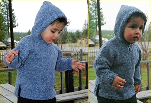 Knitting Pure & Simple Knitting Pattern #211 Hoodie Baby Tunic to Knit for 6 to 24 -