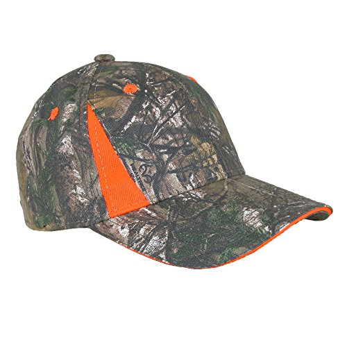 Realtree Xtra Green Camo Blaze Orange Baseball Cap, Blaze Orange