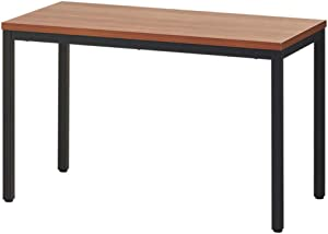 BEST BOARD 24x63 Inches Writing Computer Desk Modern Simple Study Desk Industrial Style Laptop Table for Home Office Brown Notebook Desk