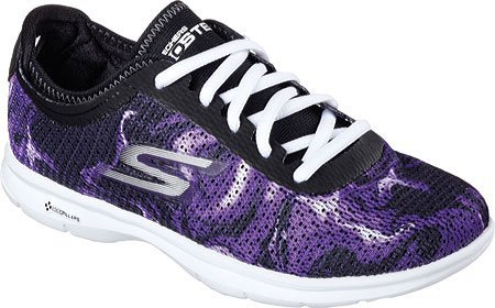 Performance Skechers Lace Running Daze Shoe Black Step up Go Women's Purple d5XwU6xd