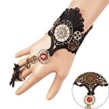 Juland Fingerless Gloves Gothic Floral Lace