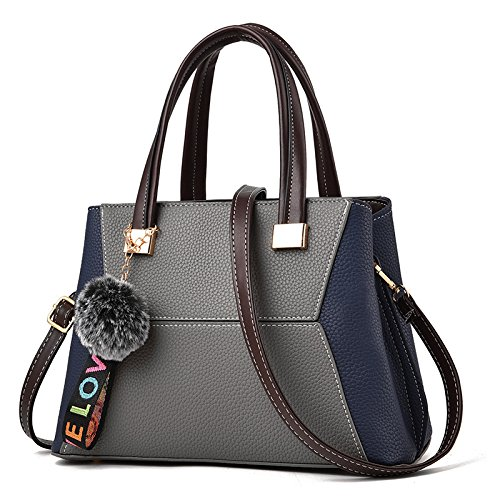 GUANGMING77 _ Bolsa Bolsa Tipo Mensajero Hombro,Vino Tinto Bag Promesa The promise of grey bag