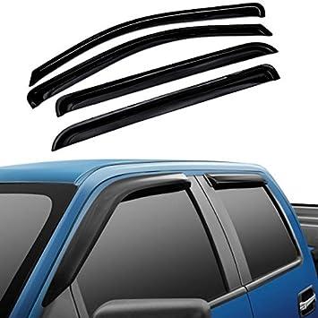 For 2009-2018 RAM 1500 10-18 2500 CREW Cab Chrome Door Vent Visors Rain Guards