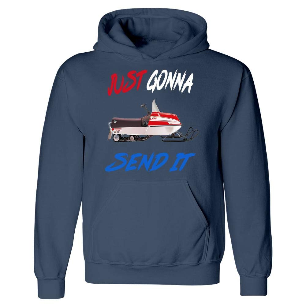 Larry Just Gonna Send It Snowmobile Enticer You Guys Silly Vintage Gift Hoodie