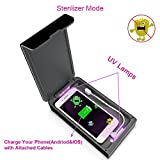Smartphone Sanitizer Portable UV Light Cell Phone Sterilizer,with USB Charging and Aromatherapy Function,Cleaner for All iOS&Andriod Cellphone,iPhone/Samsung/LG, Watch and Jewelry (Black)