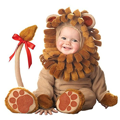 [Infant Baby Lion Anime Cosplay Costume Newborn Toddlers Clothing Set Romper (Medium(12-18 Months))] (Baby Piglet Costumes)