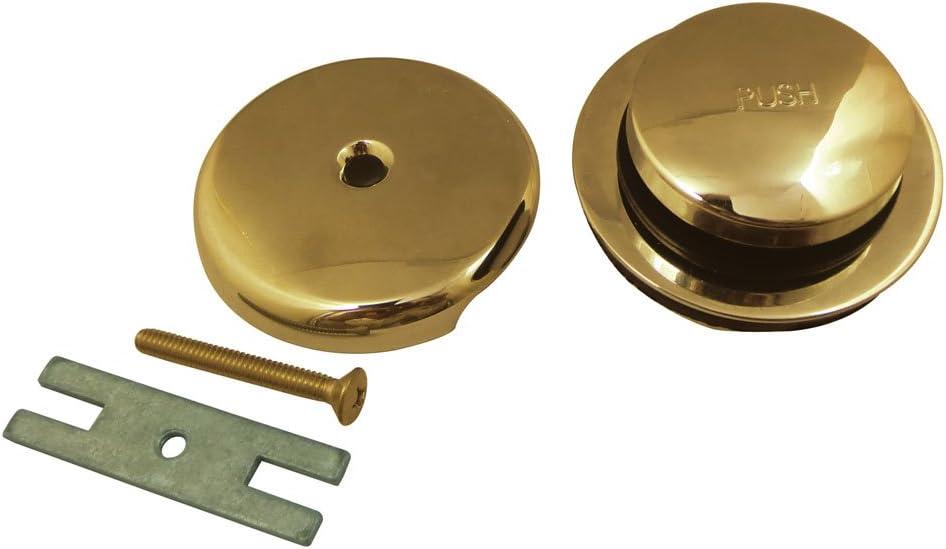 Kingston Brass DTT5302A0 Match Touch-Toe, Tub Drain Kit, Matte Black - -