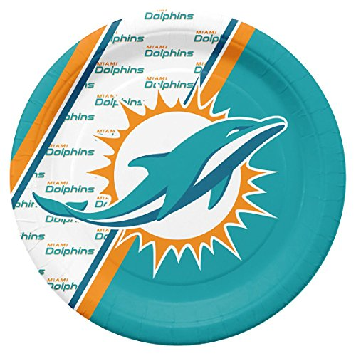 NFL Miami Dolphins Disposable Paper Plate