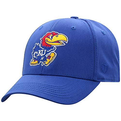 - NCAA Kansas Jayhawks Men's Fitted Relaxed Fit Team Icon Hat, Royal