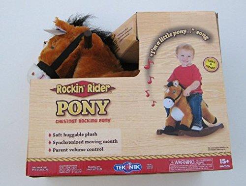 Tek Nek Rockin' Rider Pony - Chestnut Rocking Pony ()