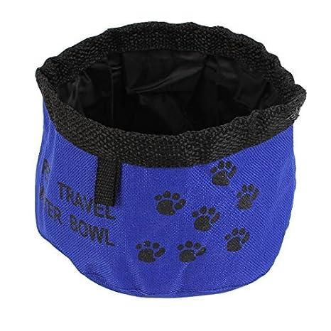 Pata del perro del gato DealMux Patrón plegable portátil Plato 15cm  alimentador de agua de la taza Dia Azul Negro  Amazon.es  Productos para  mascotas 8fafde37249