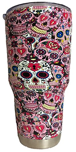30 oz Sugar Skulls Stainless Steel