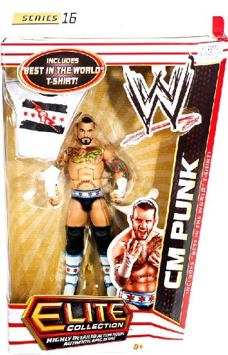 WWE Collector Elite CM Punk Figure - Series 16 (Figure Cm Wwe Punk)