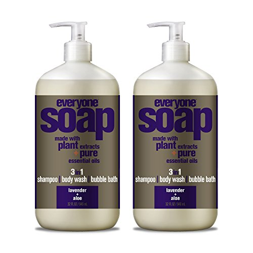 1 Bath Soap (Everyone 3-In-1 Soap, Lavender plus Aloe, 32 oz, 2 Count)