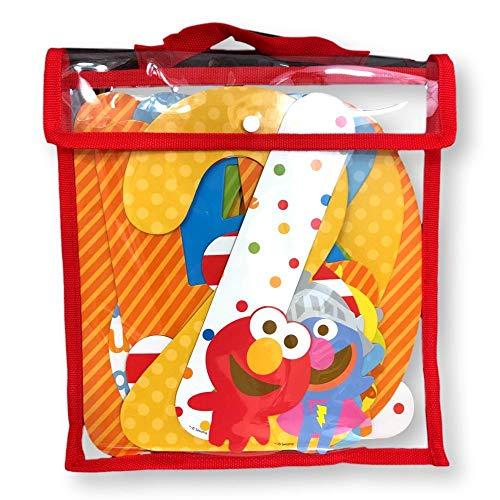 (Sesame Street Milestone Month Boys Girls Unisex Elmo Cookie Monster Big Bird Bert Ernie Characters Jumbo Newborn to 12 Months First Year Number Set Pictures Facebook Baby Album Scrapbook Memory)