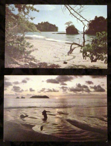 Costa Rica, Beach of Manuel Antonio Postcards (2) Modern Pc's ()