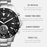 Fossil Q Crewmaster Gen 2 Mens Silver Stainless Steel Hybrid Smartwatch FTW1126