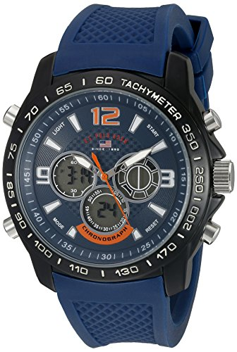 U.S. Polo Assn. Sport Men's US9557 Analog Digital Blue Watch