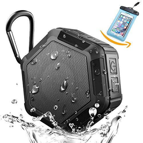 Orchestra PWR250 Portable Bluetooth Speakers – Wireless Water Resistant Rugged Speaker With Richer Bass, Loud Sound & Long Battery Life – Great for Shower, Beach & Outdoors- Free Waterproof Phone Case