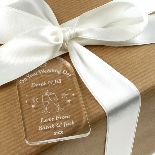 Personalised Gift Tags For Bottles Acrylic Tag Wedding