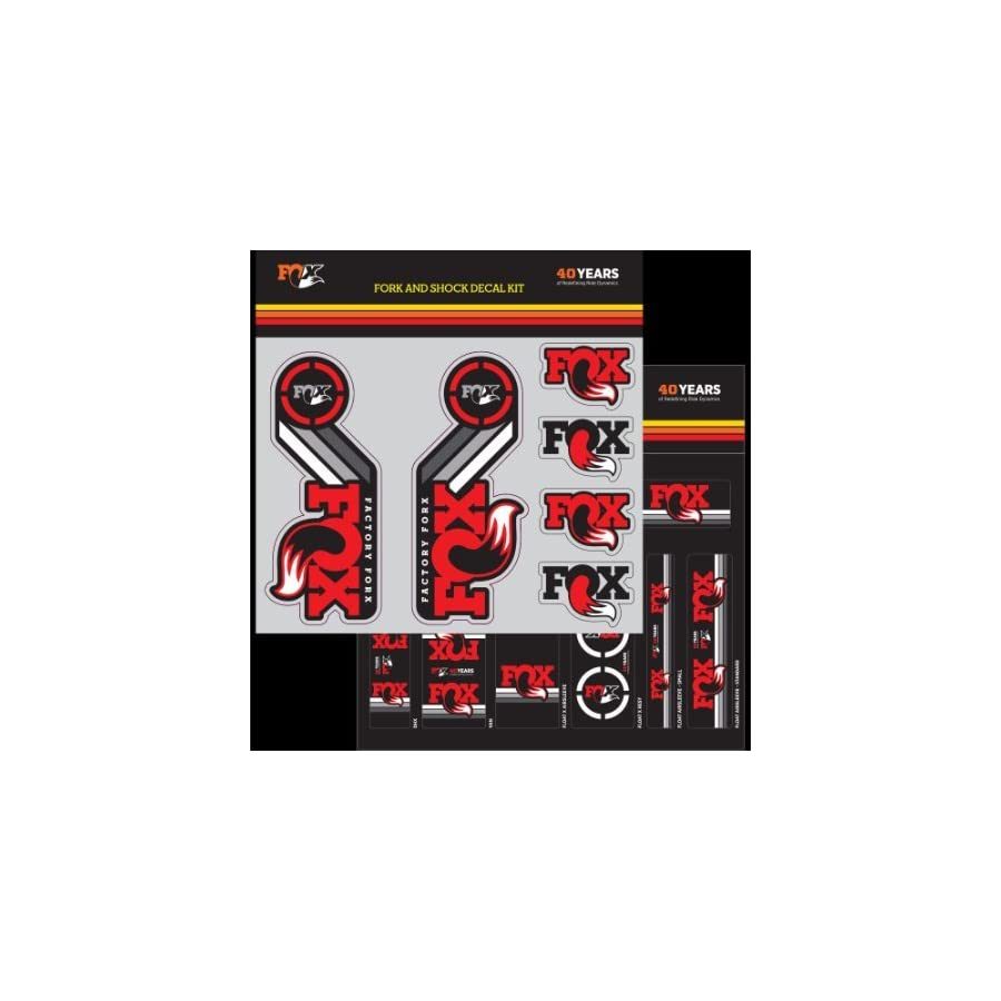 FOX Decal 2015 AM Heritage, Fork and Shock Kit, Red
