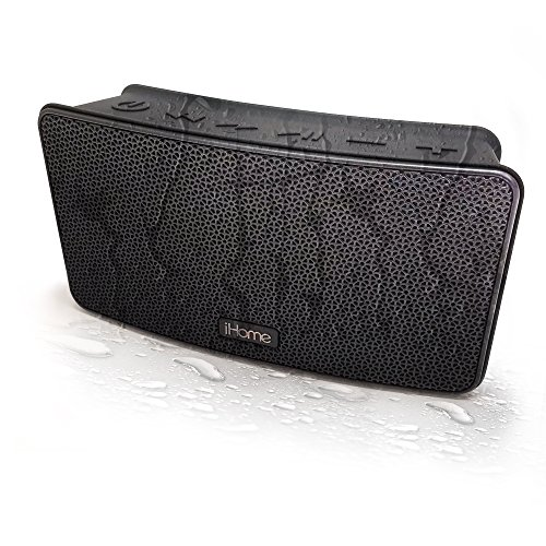 - iHome iBT39 Portable Waterproof Stereo Bluetooth Speaker with Passive Subwoofer and Speakerphone