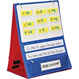 Really Good Stuff Desktop Stand with Flip Magnetic Boards and Storage Pockets
