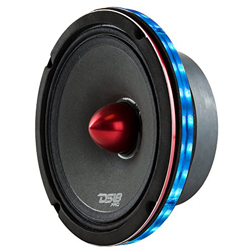 DS18 LRING6 SPEAKER GRILL RING - Fits 6.5 Speaker, RGB LED Lighting, Acrylic Ring, Marine Watertight Seal, Compatible with RGB Remote Module - One Ring