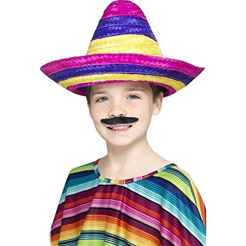 Smiffys 44311 Déguisement Enfant Sombrero, Multicolore, Taille Unique