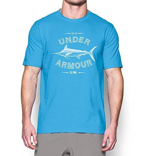 Under Armour Men's Classic Marlin T-Shirt, Carolina Blue/White, Medium