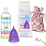Athena Menstrual Cup - #1 Recommended Period Cup - Small Purple Cup and Menstrual Wash