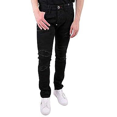 e3e640162b2 Philipp Plein - Jeans - Homme Noir Noir  Amazon.fr  Vêtements et ...