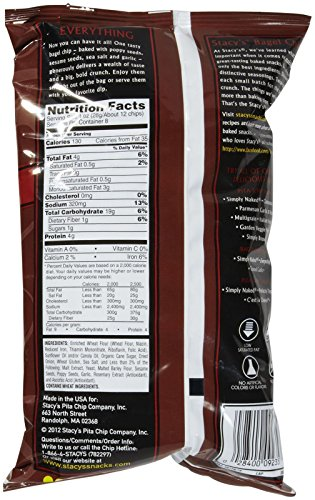 Stacy's Pita Chips Everything Bagel Chips - 8 oz by Stacy's (Image #1)