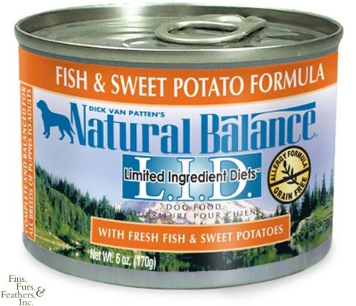 Natural Balance Canned Dog Food, Grain Free Limited Ingredient Diet Fish and Sweet Potato Formula, 12 x 6 Ounce Pack, My Pet Supplies