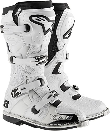 Price comparison product image Alpinestars Unisex-Adult Tech 8 RS Vented Boots (White,  Size 5 )