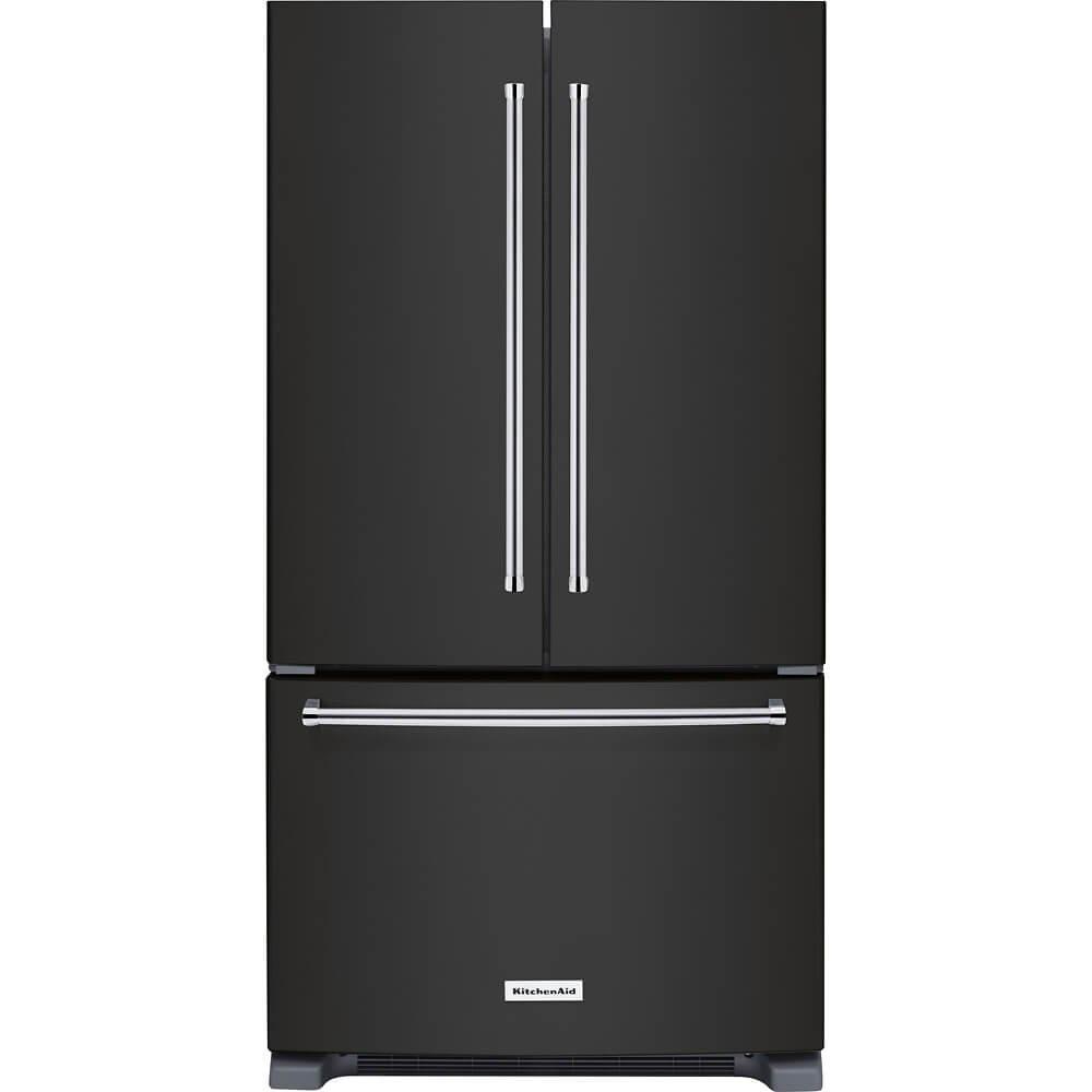 KitchenAid KRFC300EBS 20 Cu. Ft. Black Stainless French Door Refrigerator KRFC300EBS