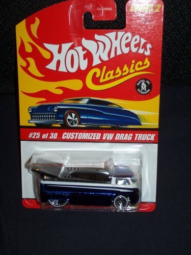 Hot Wheels Classics Series 2 # 25 of 30 Blue Spectraflame Customized VW Drag Truck
