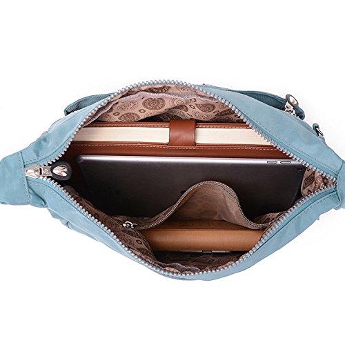 Shoulder Bookbags Blue MeCooler Lightweight Cross Bag Women Ladies Sport 4 Casual Waterproof Bag Messenger Satchel Bag Body for Travel 58Hq8gTr