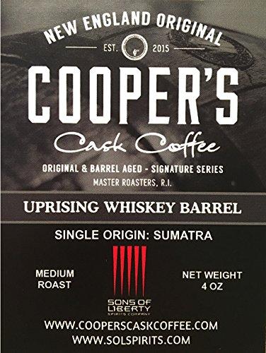 Bourbon Barrel Aged Coffee Whole Bean Set, 3 Bags – Single Origin Sumatra Whiskey, Ethiopian Rye, Rwanda Rum Roasted…