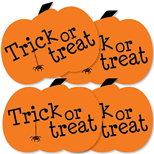 Trick or Treat - Pumpkin Decorations DIY Halloween Party Essentials - Set of -