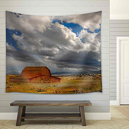 Beautiful Image of a Passing Storm in New Mexico Fabric Wall Tapestry