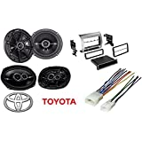 Car Stereo Radio Single/Double Din Dash Kit/Harness Kicker Speakers For 2005-2011 Toyota Tacoma
