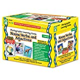 Photographic Learning Cards Boxed Set, Nouns/Verbs/Adjectives, Grades K-12, Sold as 1 Set
